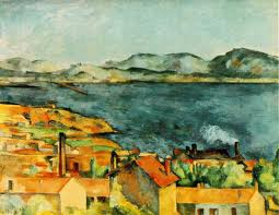 painting Estaque by Cezanne
